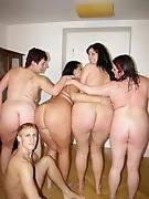 Kinky mature sluts sharing one hard throbbing cock