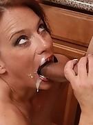 Hot Mom Facial Cumshot