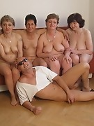 One strapping dude gets to fuck all these mature sluts
