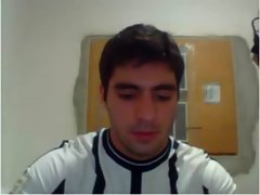 Torcedor corinthiano punhetando na webcam