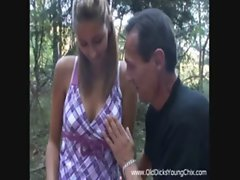 Gorgeous czech Kitty Jane Lets An Old Perv Fuck her In The Woods!
