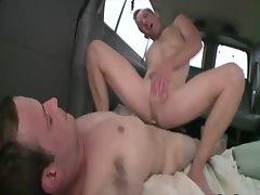 Straight amateur guy ass fucks for cash