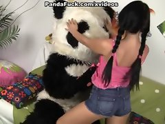 Awesome babe has sex with cite Panda
