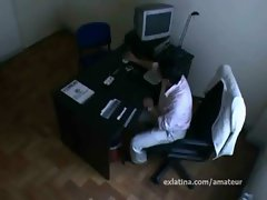 Blowjob job interview goes hardcore sex with secretary latina on hidden camera