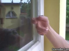 Hot guy screws neighbour granny