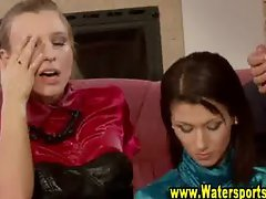 Glam hot bizarre sluts love pissing