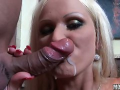 Adorable hussy Sharon Pink gets her lubed hole stuffed with fat cock