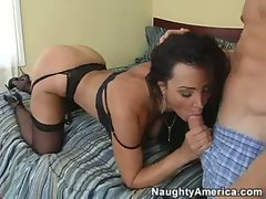 Saucy smoking hot belle Lisa Ann gets her slit nailed by a gigantic toll