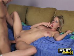 Care for a milkshakes? Anita Blue gets one after a hard pounding