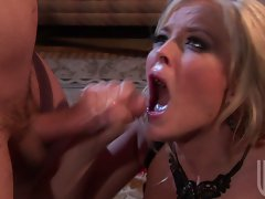 Sexy honey gets her juicy dripping cunt fucked by a big meaty cock