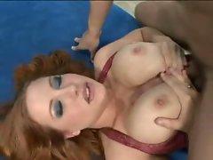 Super slut Rebecca Lane uses her natural huge tits to jerk cock