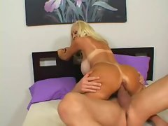 Bombshell Brittany Oneil willingly rides a raging cock until it cums