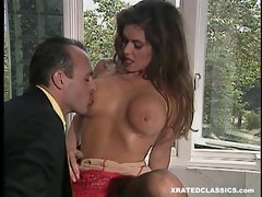 Nici Sterling take her big ass tits and lets her boo suck on them