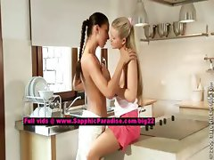 Tessa and Sharon lesbo dolls undressing