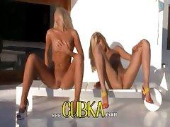 Two blondie angels in high heels