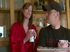 Horny milf talking with her boyfriend part1