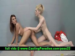 Jayme Valerie amazing lesbians licking in jail