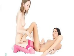 First sapphic experience of skinny girl