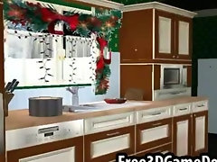Take a look at this beautiful christmas kitchen
