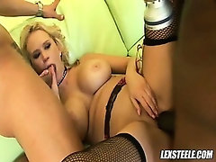 Black cock action with blond