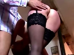 Horny babe gets deeply fucked by old guy and loves it