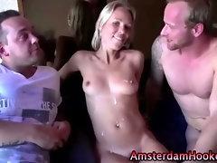 Real slutty amteur whore gets fucked