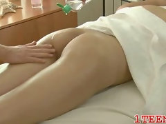 Teen in sexual action