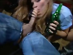 Two police ladies in leather have sex