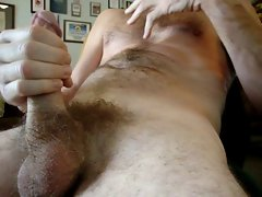 Creamy Phone Sex Load on my stomach