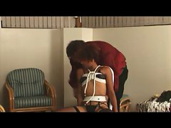 Sexy stud and his slut in BDSM foreplay
