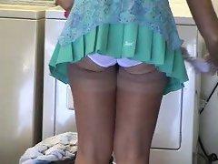 Wife showing neighbor her panties