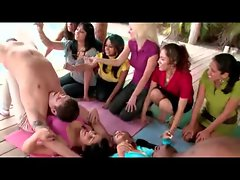 Kinky CFNM Yoga Lessons