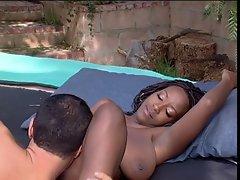 Ebony hottie wet for hard cock