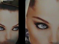 random model tribute cum pic facial