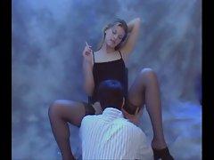 Smoking girl with JOI