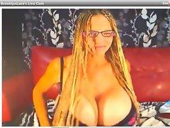 webcam - brooklynlace aka deena duos topless (9-18-12)