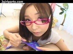 Pink Rimmed Glasses - Japanese Uncensored