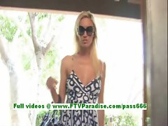 Victoria adorable blonde teenage fingering pussy on a chair