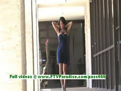 Jasmine hot brunette teenage undressing and posing her gorgeous naked body