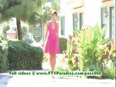 Malina amazing brunette girl flahing naked outdoor and stuffing