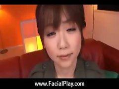 Sexy Japanese Teens Take Nasty Facial Cumshots 12