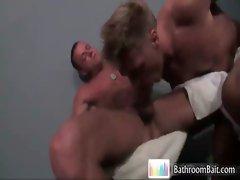 Gavin Waters in hot bathroom fucking gay video