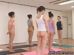 Japanese chicks practicing Asian nude