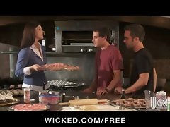 HOT soccer mom India Summer fucks her son&#039_s friends in threesome