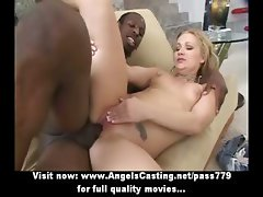 Amateur amazing blonde babe with natural small tits fucking on the couch