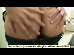 Kimberly Gates amateur latina with natural tits sucking cock