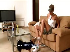 Shy Natasha teen from europe in my house