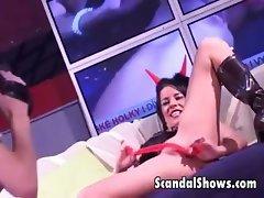Sexy girls show off their curvy bodies