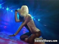 Sexy striper dances like a slut