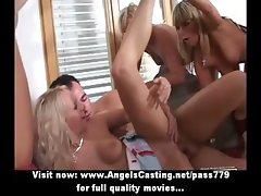 Drunken sexy teen girls having sex orgy sucking and riding hard cock